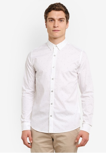 Calvin Klein white Wilbert Aop Shirt - Calvin Klein Jeans CA221AA0RWSFMY_1