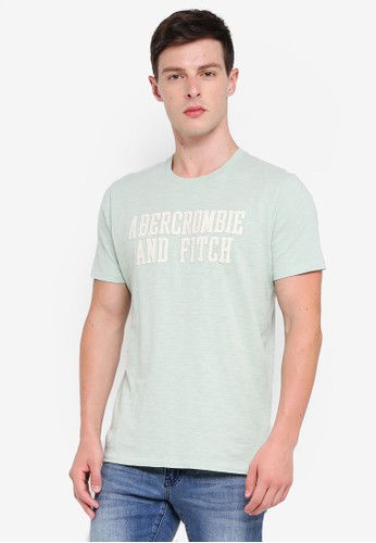 Abercrombie & Fitch green Brand Logo T-Shirt 89D8BAA55DF8A5GS_1