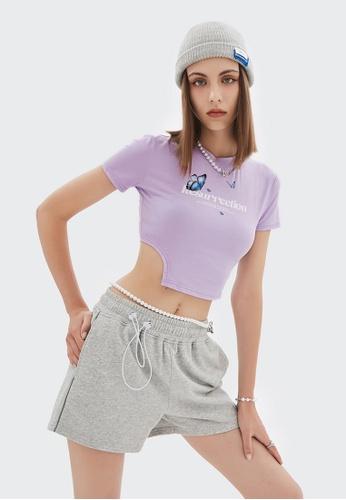 Twenty Eight Shoes Cropped Printed Short Sleeve T-shirt 6043GS21 6372BAABD18DA3GS_1