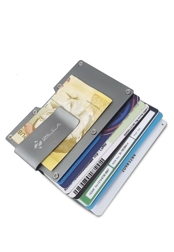 Fashion by Latest Gadget grey Zilla Metal Card Holder with Money Clip FA499AC0KMH7PH_1