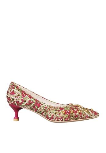 Twenty Eight Shoes 紅色 5cm 印花閃石晚裝及新娘鞋 VP163 6C08ESHC16DDF3GS_1