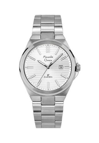 Alexandre Christie silver Alexandre Christie Jam Tangan Pria - Silver - Stainless Steel - 8563 MDBSSSL FDAA7AC75229F3GS_1
