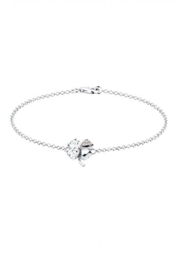 Elli Germany white 925 Sterling Silver Gelang Clover Swarovski® Putih EL948AC72KJFID_1