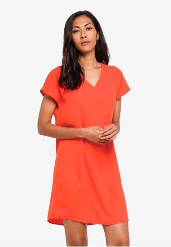 Shop ZALORA BASICS Basic V-Neck Shift Dress Online on ZALORA Philippines 69da702a6