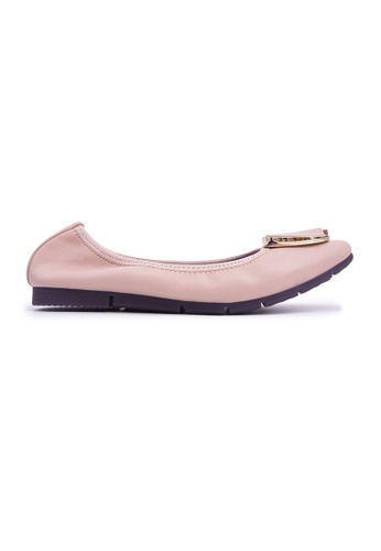 Flatss & Heelss by Rad Russel beige Square-toe Flats with Buckle - Beige 67000SHF30498CGS_1
