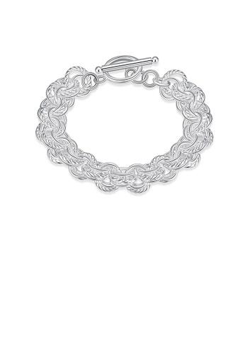 Glamorousky silver Fashion Elegant Geometric Round Bracelet 83139ACEE08C5FGS_1