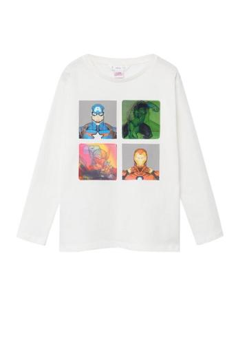 MANGO KIDS white Superhero Cotton Marvel T-Shirt 4A8DCKAC4E5878GS_1