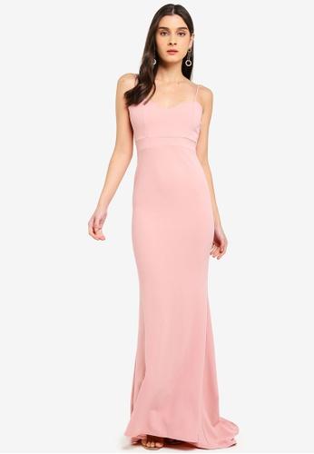 MISSGUIDED pink Sweetheart Neck Maxi Dress 1D3FAAA3706235GS_1