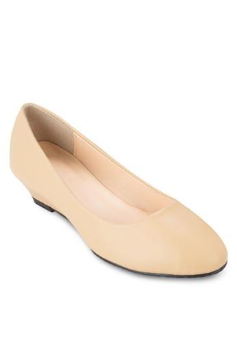 esprit暢貨中心極簡楔型跟淑女鞋, 女鞋, 厚底楔形鞋