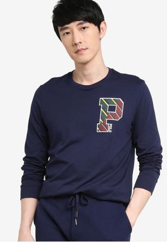 Polo Ralph Lauren navy Long Sleeve T-Shirt B8F83AA5D10BABGS_1