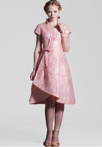 新中國風氣質前短開岔後長改良式旗esprit outlet 台灣袍, 服飾, 正式洋裝