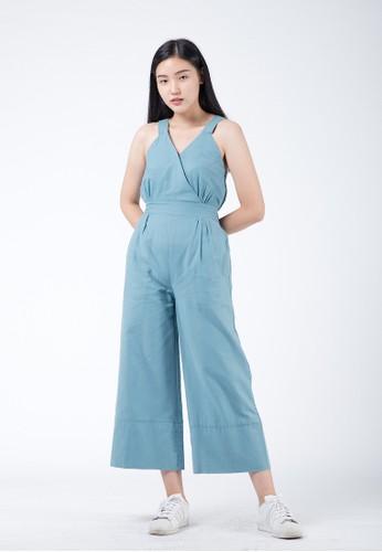 Simplify blue Rexa Jumpsuit Soft Blue 06056AA35D2FF6GS_1