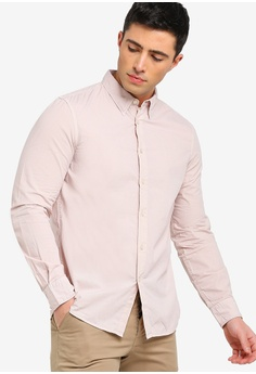 1eb34f415f0 French Connection pink Overdyed Poplin Shirt A59CDAABE533F9GS 1