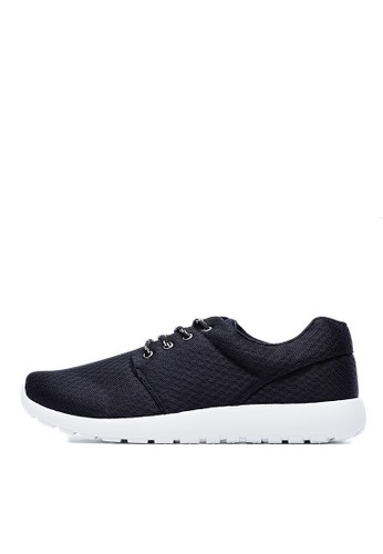 MIT。輕量。透氣網布。時尚簡esprit 寢具約休閒鞋-09456-黑色, 鞋, 休閒鞋