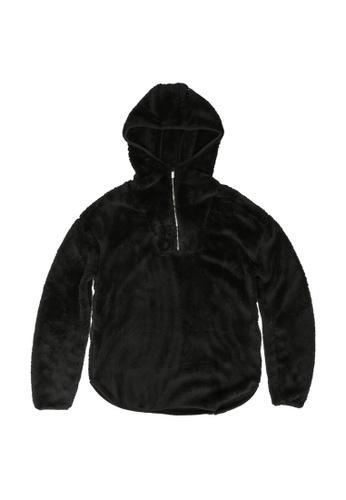 ONLY black Tanni Long Sleeves Teddy Jacket E663DKA9DA9D5DGS_1