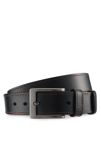 RAV Design brown 40MM Leather Belt FF625ACB879BA0GS_1