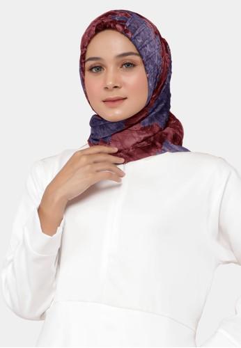zelena purple Keshwari Scarf Plisket Hijab Square Kerudung Motif Exclusive - Charoite 3243BAAAA8726CGS_1