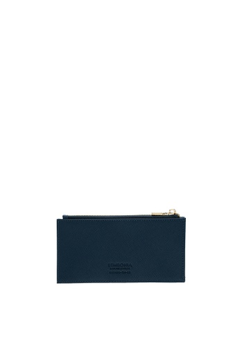 SEMBONIA blue SEMBONIA Genuine Leather Pouch (Blue) 20090AC4B0E40BGS_1