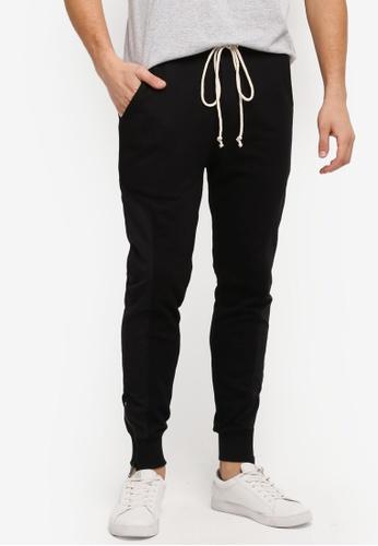 Flesh IMP 黑色 Bottom Side Zip Turner Jogger Pants FL064AA0SJO5MY_1