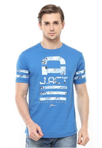 Johnwin blue Johnwin - Slim Fit - Kaos Casual Active - Futuristic - Biru 7490AAA200AAAAGS_1