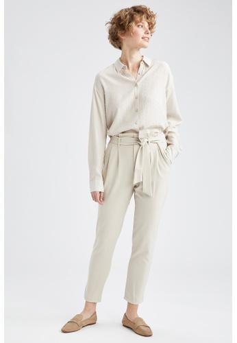 DeFacto grey Woman Woven Trouser AD36EAA18DCE1FGS_1
