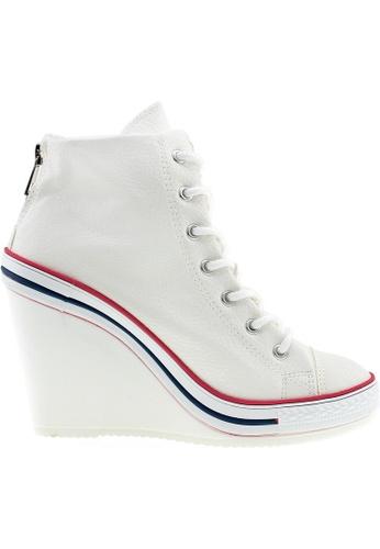 Maxstar white Maxstar Women's 777 Back Zipper PU High Wedge Heel Sneakers US Women Size MA164SH51PWESG_1