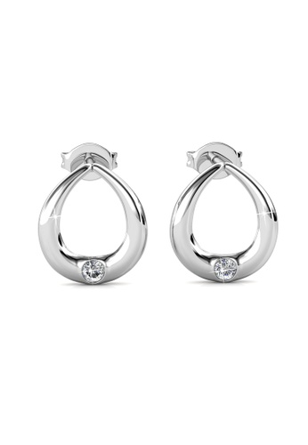 Her Jewellery silver Unity Earrings -  Made with premium grade crystals from Austria HE210AC0GRBFSG_1