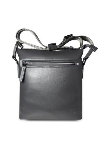 Santa Barbara Polo & Racquet grey Santa Barbara Polo & Racquet Club Leather Crossbody Bag SA678AC0HB9ESG_1