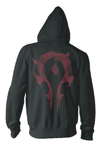 Jinx black Warcraft Movie Horde Logo Men's Zip-up Hoodie 14814AA26436BBGS_1