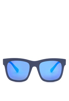 Shades with Blue Lens and Black Frame