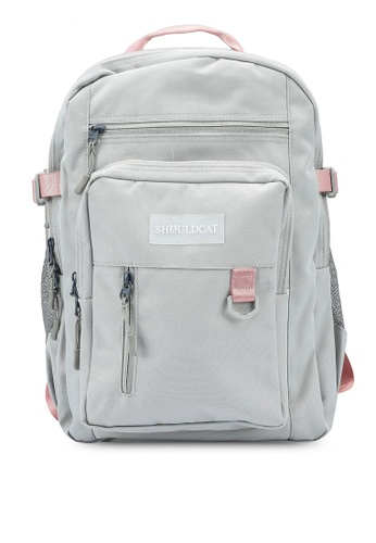 Bagstationz grey Multi-Compartment Large Backpack 139E8AC1AF5E55GS_1