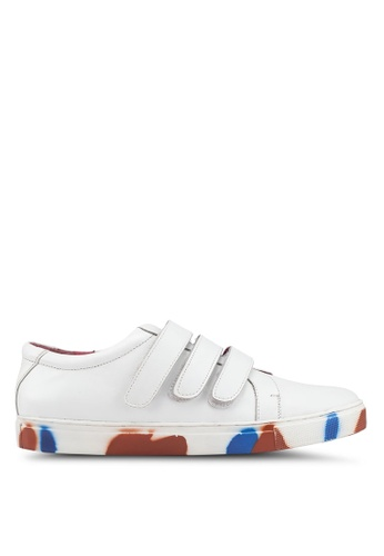 Acuto white Leather Sneakers B178DSH6B9BAB5GS_1