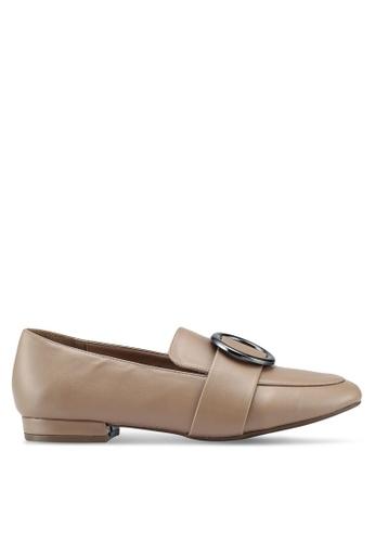 Bata 米褐色 金屬環樂福鞋 3EDC1SH92310BCGS_1