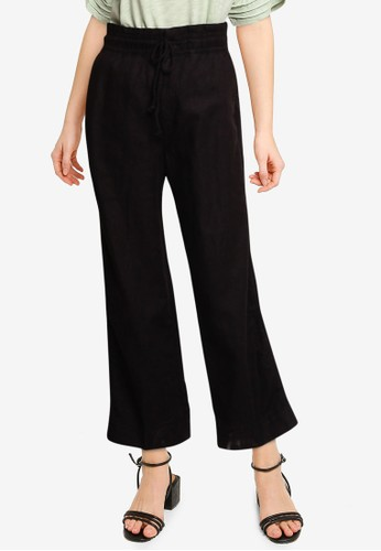 GAP black High Rise Wide-Leg Pants 88975AA65BA654GS_1