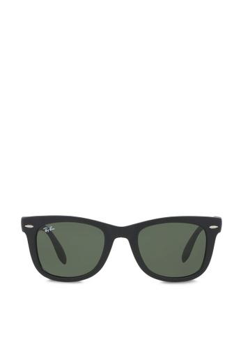 Ray-Ban 黑色 Wayfarer Folding RB4105 Sunglasses RA370GL65SDESG_1