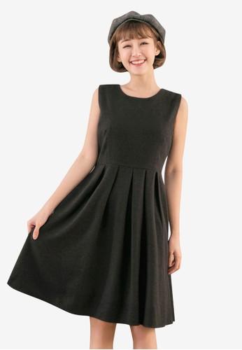 Tokichoi grey Pleated A-line Dress AA408AAD144F60GS_1