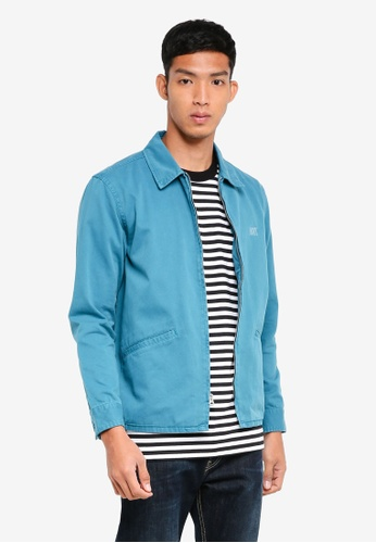 OBEY blue Clubber Station Jacket B9CD6AA8C554D7GS_1