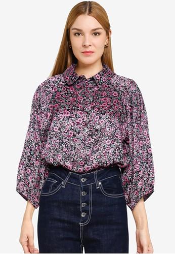 JACQUELINE DE YONG multi Juliette 3/4 Shirt 25A09AABDB8624GS_1