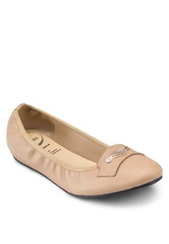 Aina 金esprit outlet 香港飾芭蕾平底鞋, 女鞋, 鞋