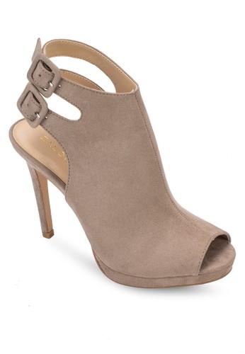 雙扣環踝帶高跟涼鞋、 女鞋、 鞋ZALORA雙扣環踝帶高跟涼鞋最新折價