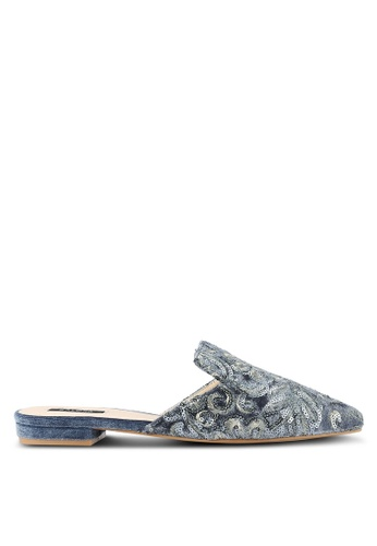 ZALORA grey Sequin Embroidered Flats 1246DSHF694228GS_1