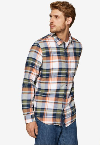 ESPRIT multi and brown Check Flannel Shirt 4F5B5AA169A934GS_1