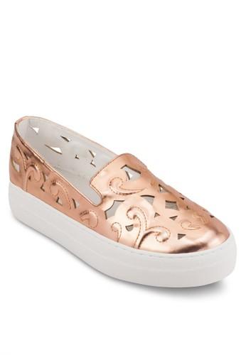 Latrell 雕花仿皮懶esprit台北門市人鞋, 韓系時尚, 梳妝