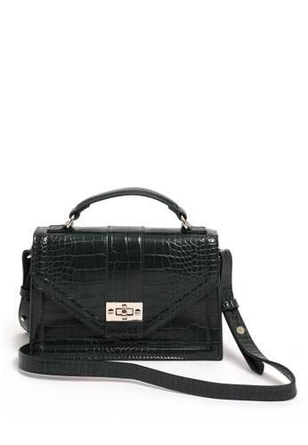 PIMKIE black Croc Embossed Boxy Sling Bag 0DD68AC3125DC7GS_1