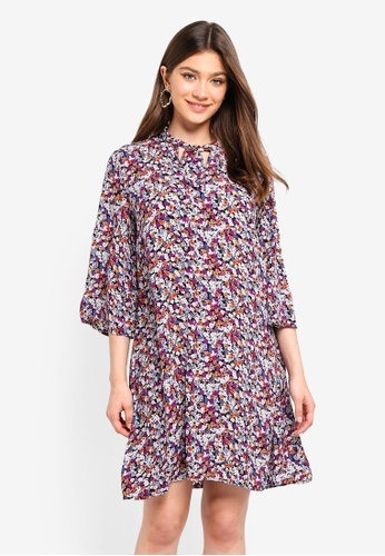 Pieces multi Jasmine 3/4 Dress A2B45AAA3FAE8DGS_1