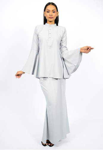 Kurung Wazeera from Watie Collections in Grey