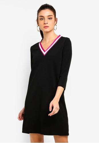 Vero Moda black Sira 3/4 Short Dress F892DAAE476C44GS_1
