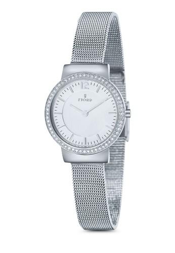ELINesprit台灣A 金屬網眼水鑽圓錶, 錶類, 飾品配件