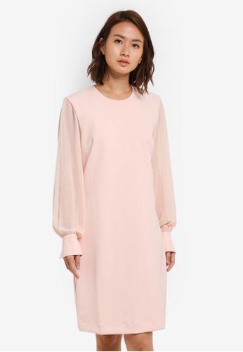 Selected Femme pink Mayi Long Sleeve Dress SE157AA0S43OMY_1