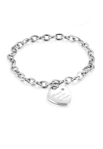 ADORA silver Stainless Steel Heart Bracelet 44A50AC5F09DD8GS_1